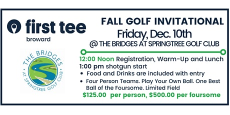 First Tee - Broward Young Professionals - Fall Golf Invitational tickets
