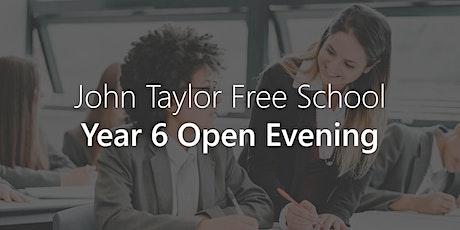 Year 6 Open Evening - John Taylor Free School tickets