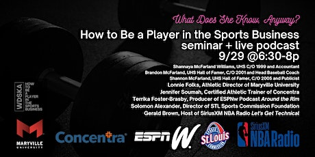 How to Be a Player in the Sports Business tickets