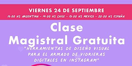 """""""Herramientas de diseño para crear  vidrieras digitales en Instagram"""" tickets"""
