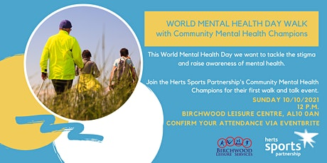 World Mental Health Day Walk with HSP Mental Health Champions tickets