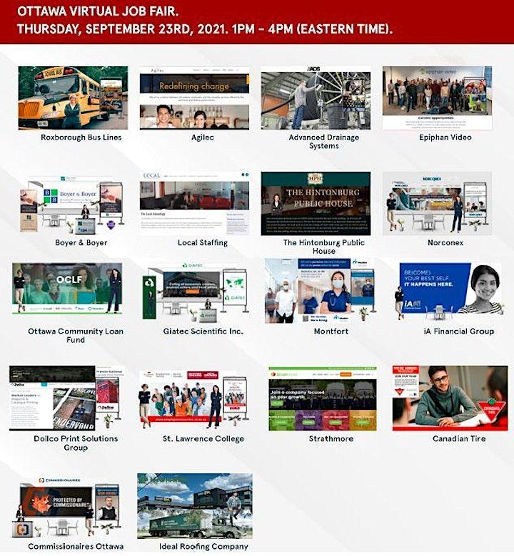 Greater Ottawa Virtual Job Fair - September 23rd, 2021 image