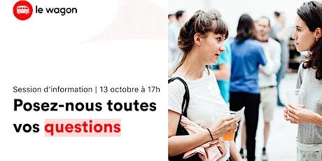 Session d'information Le Wagon Marseille l Data Science 13/10 billets