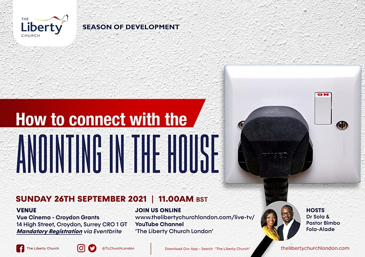 TLC Sunday Service - HOW TO CONNECT WITH THE ANOINTING IN THE HOUSE image