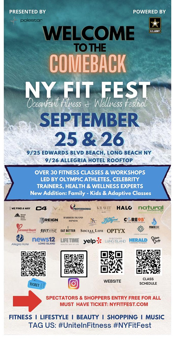 NY FIT FEST OCEANFRONT FITNESS & WELLNESS FESTIVAL image