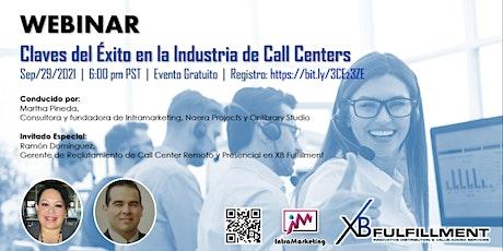 WEBINAR Claves del Éxito en la Industria de Call Centers entradas