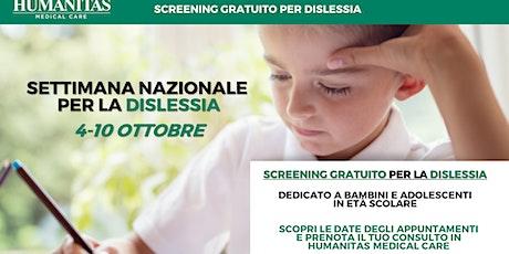 Screening per la dislessia dedicato a bambini e ragazzi in età scolare biglietti