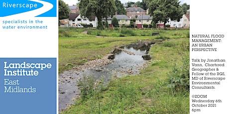 LIEM: Natural flood management: an urban perspective tickets