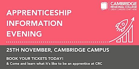 Apprenticeship Information Evening: Cambridge Campus tickets