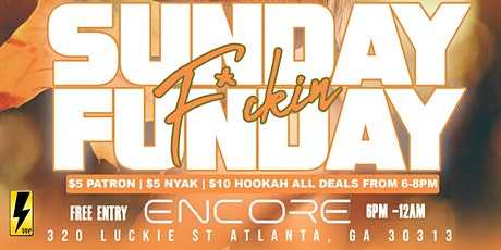 Sunday Funday Party At Encore Hookah Lounge tickets