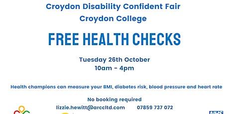 Free Health Check at Croydon Disability Confident Fair tickets