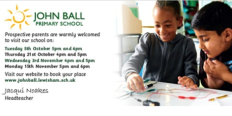 Open Evening 3rd November 4pm - 4.45pm with Headteacher talk at 5pm tickets