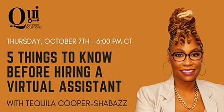 5 Things To Know Before Hiring a Virtual Assistant tickets
