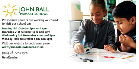 Open Evening 3rd November 5pm - 5.45pm with Headteacher talk at 6pm tickets
