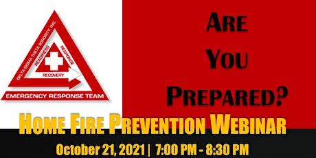 Home Fire Prevention Webinar tickets