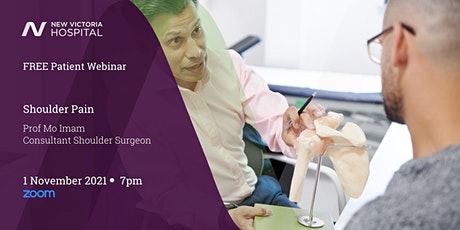Free Patient Webinar with Q&A - Shoulder tickets