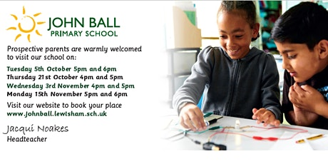 Open Evening 15th November 5pm - 5.45pm with Headteacher talk at 6pm tickets