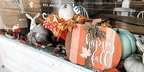 Happy Fall Pumpkin Sign tickets