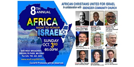 The Minnesota 2021 Africa Night to Honor Israel followed by dinner -- free tickets