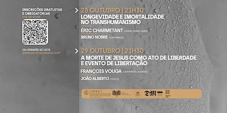 XXXII Jornadas Teológicas: Dia 29 [François Vouga] bilhetes
