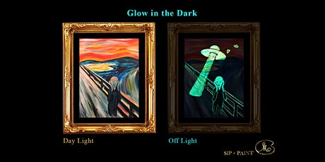 Sip and Paint (Glow in the Dark): Scream (8pm Sat) tickets