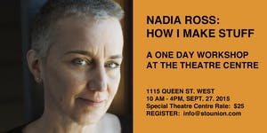 How I Make Stuff with Nadia Ross