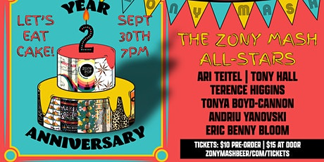Zony Mash Year 2 Anniversary Party Featuring The Zony Mash All-Stars tickets