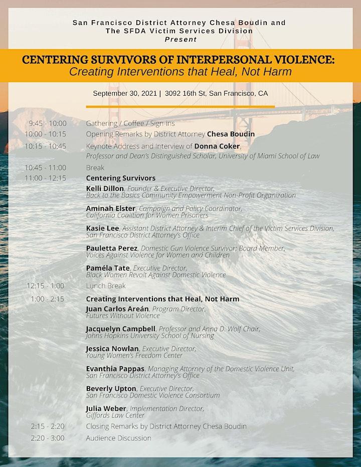SFDA Presents:  Centering Survivors of Interpersonal Violence (IN PERSON) image