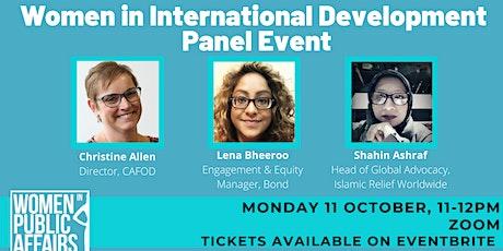 WiPA: Women in International Development Panel Event tickets