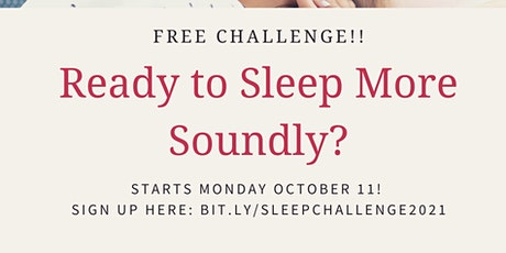 Sleep More Soundly in 5 Days FREE Challenge tickets