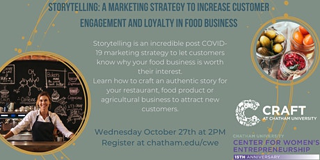 Webinar: Storytelling - A Marketing Strategy For Food Businesses tickets