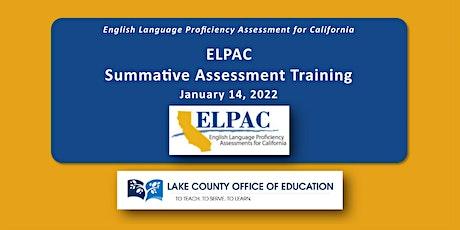 ELPAC Summative tickets