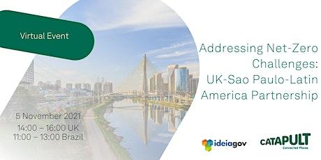 Addressing Net-Zero Challenges: UK-Sao Paulo-Latin America Partnership tickets
