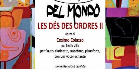 Les dés des ordres - opera di Cosimo Colazzo per Emilio Villa biglietti