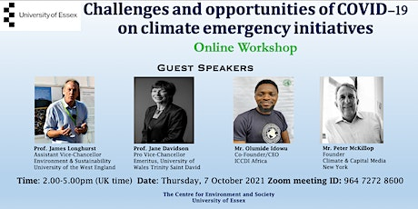 Challenges and opportunities of COVID 19 on climate emergency initiatives tickets