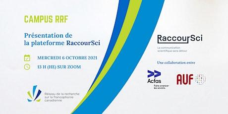 Présentation de la plateforme RaccourSci billets
