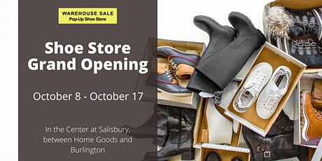 Warehouse Sale Pop-Up Shoe Store 10 Days Only! Salisbury, MD tickets
