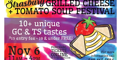 Strasburg's 5th Annual Grilled Cheese + Tomato Soup Festival! tickets