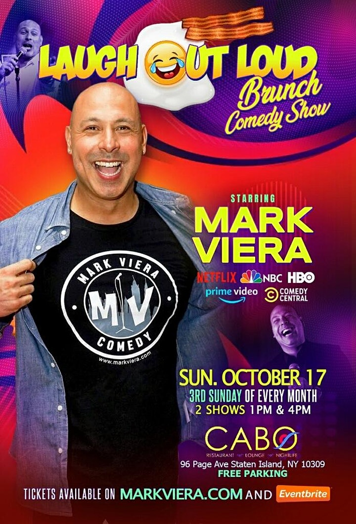 The Laugh Out Loud Brunch Comedy Show hosted by HBO Comedian Mark Viera image