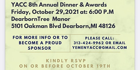 YACC 8th Annual Dinner and Awards tickets