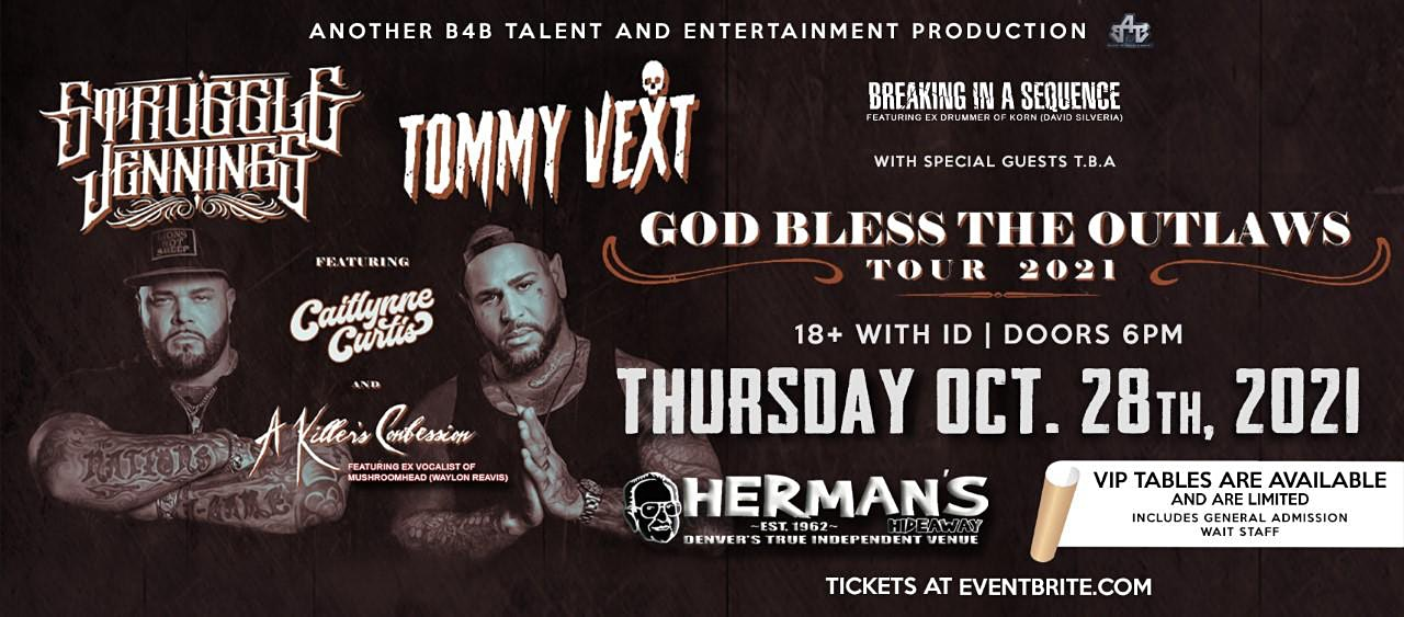Tommy Vext Of Bad Wolves with Struggle Jennings and more