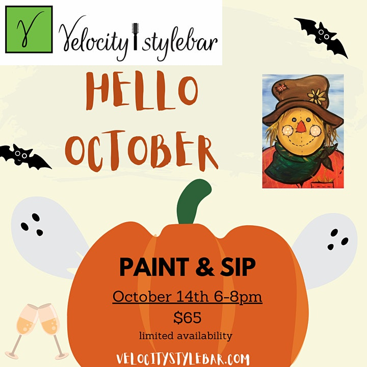 Sip and Paint Halloween Style image