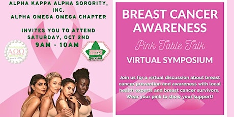 """Alpha Omega Omega Chapter Presents: Breast Cancer """"Pink Table Talk"""" tickets"""