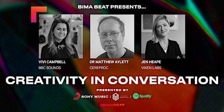 BIMA Beat   Creativity in Conversation tickets