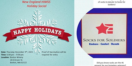 2021 New England HIMSS Holiday Social (In Person, Proof of Vaccination Req) tickets