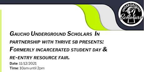 Formerly Incarcerated Student Day & Resource Fair tickets