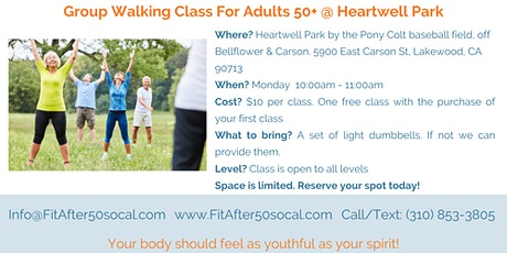 Fit After 50 Group Exercise  Walking Class tickets