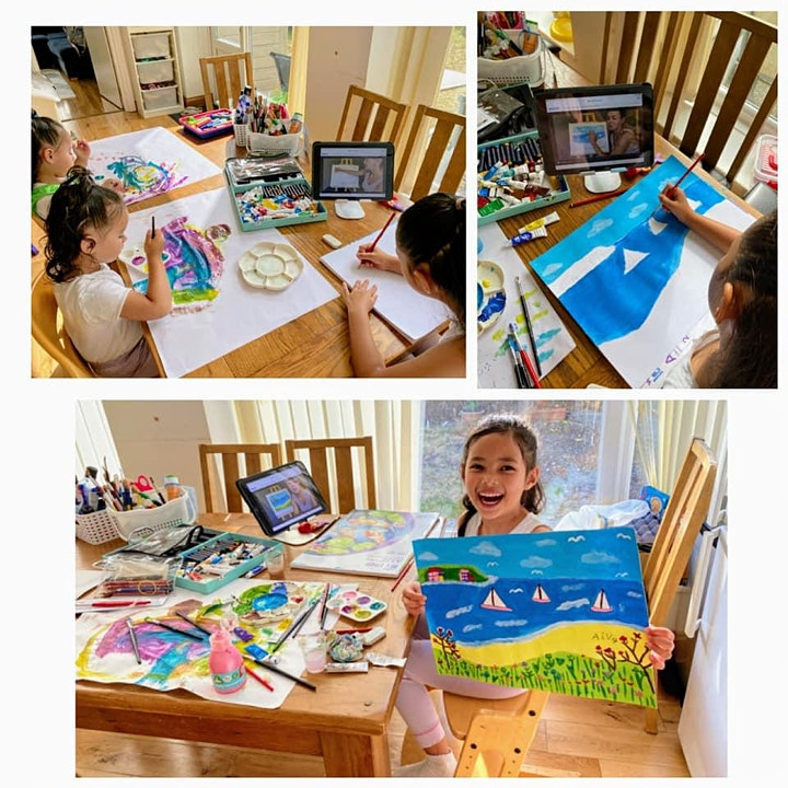 Young Artists Club - Art Webinar for 5-6 year olds - Halloween Recording image