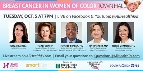 Breast Cancer in Women of Color Virtual Town Hall tickets