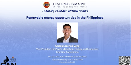 Renewable energy opportunities in the Philippines tickets